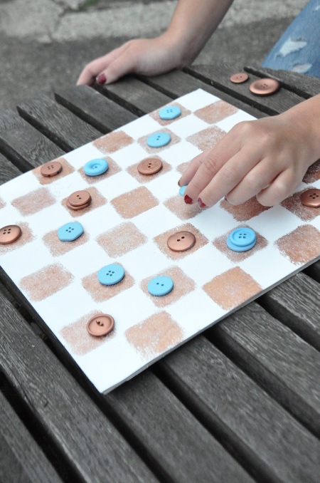 Upcycled Checkers Game