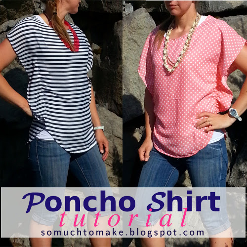 DIY Poncho Shirt Tutorial