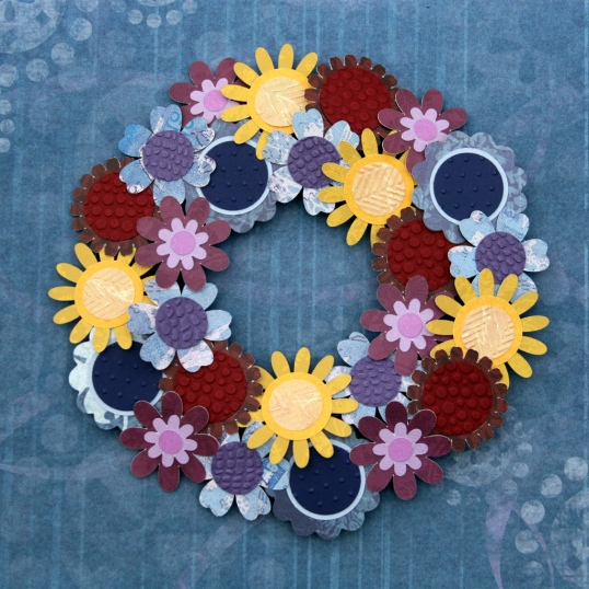 Mini paper flower wreath