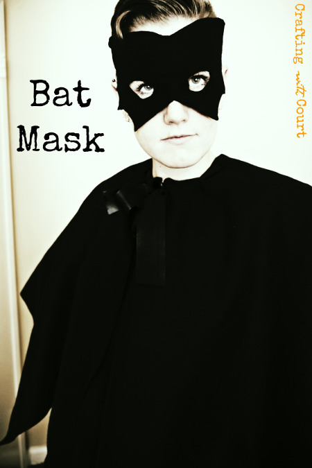 Easy Bat Mask for Halloween