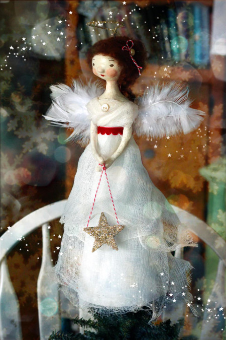 Old-Fashioned Angel Tree Topper