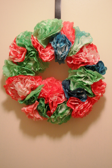 Create a Colorful Wreath from Coffee Filters