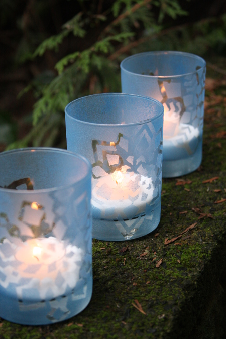 Paint Your Own Snowflake Tealight Holders