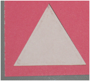 Now Print Out The Triangle Template And Cut It Add Glue To Back Using A Quickie Pen By Sakura Attach Scrap Of Card Stock