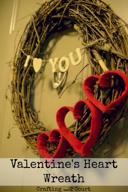DIY Valentine's Day Heart Wreath