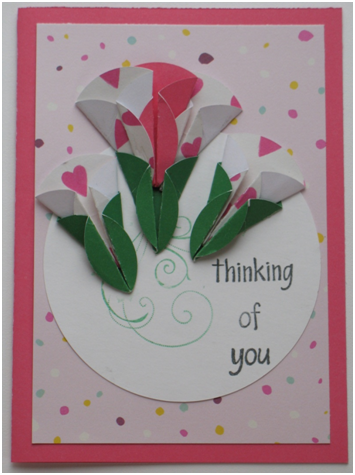Thinking of You Dahlia Fold Card