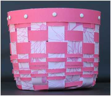 Weave a Basket from Patterned Paper