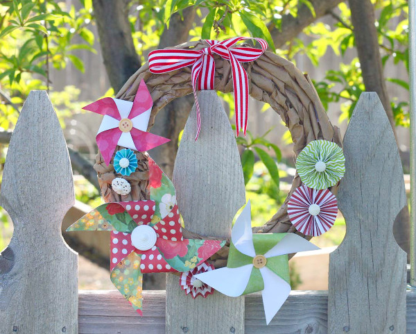 DIY Pinwheel Wreath