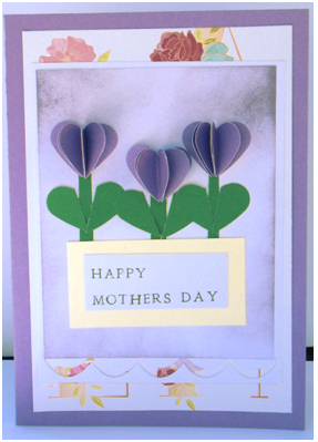 Heart Punch Flowers Mother's Day Card