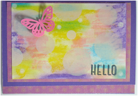 Hello Butterfly Card Using the Bokeh Technique