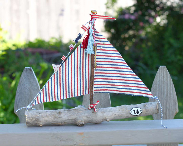 Summery Stick Sailboat