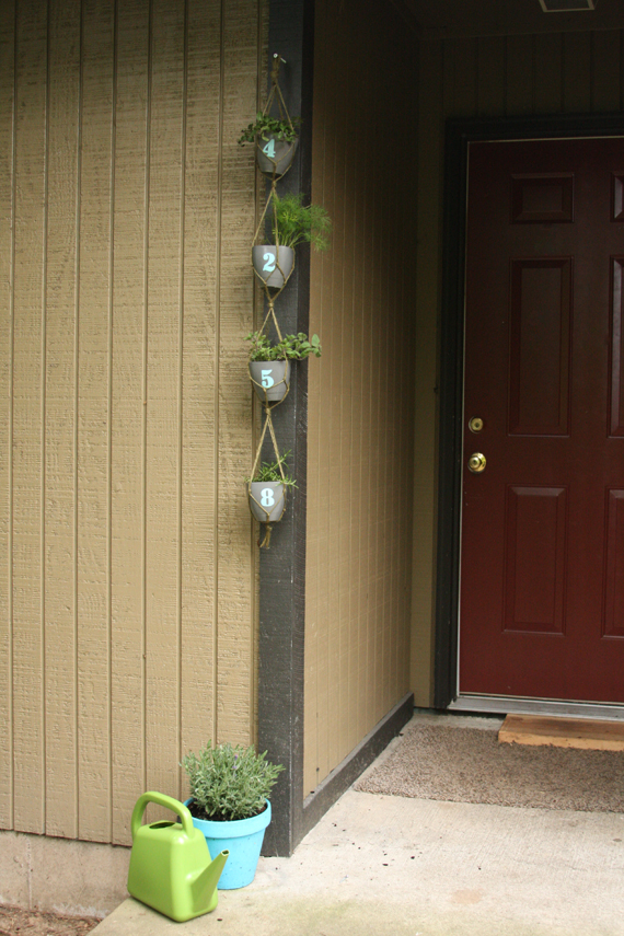 DIY Planter with House Numbers