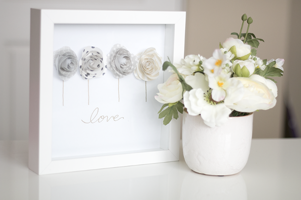 Paper Rosettes Shadowbox