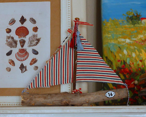Summery Nautical Sailboats made from Sticks