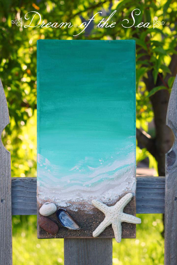 DIY a summery painting