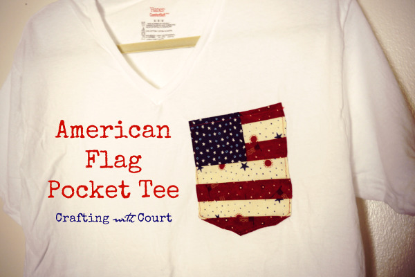 DIY Flag Pocket Tee