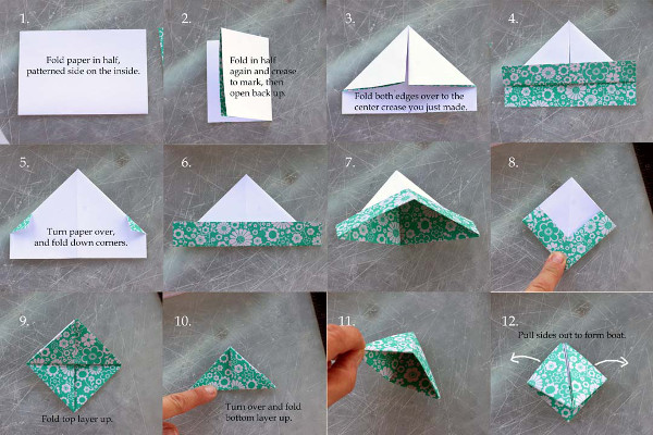 Pretty Strings Of Paper Boats Think Crafts By Createforless