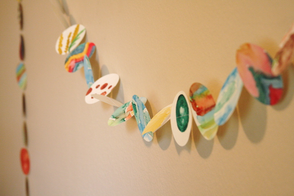 DIY Watercolor Garland