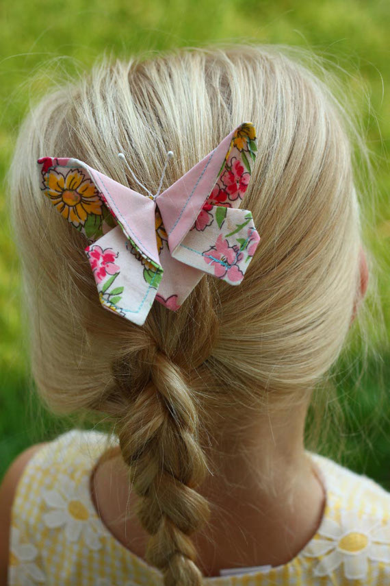 Fabric Butterfly Hair Clip