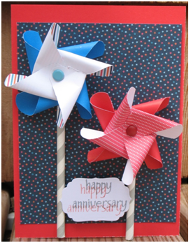 Sending Happy Wishes Pinwheel Card