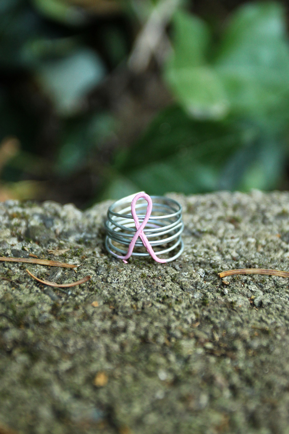 DIY Pink Ribbon Ring