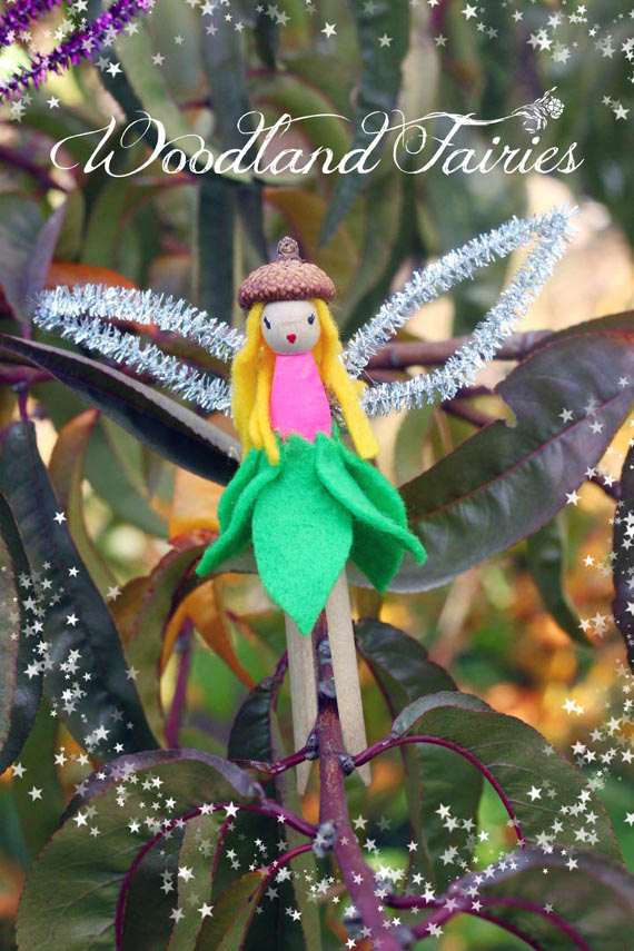 DIY Woodland Fairies