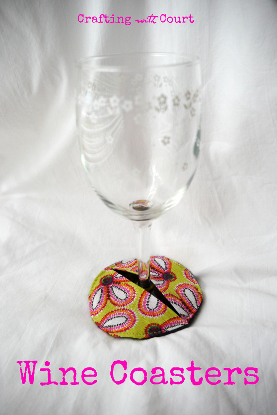 Wine Glass Coasters Sewing Tutorial