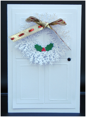 Deck the Door Holiday Card