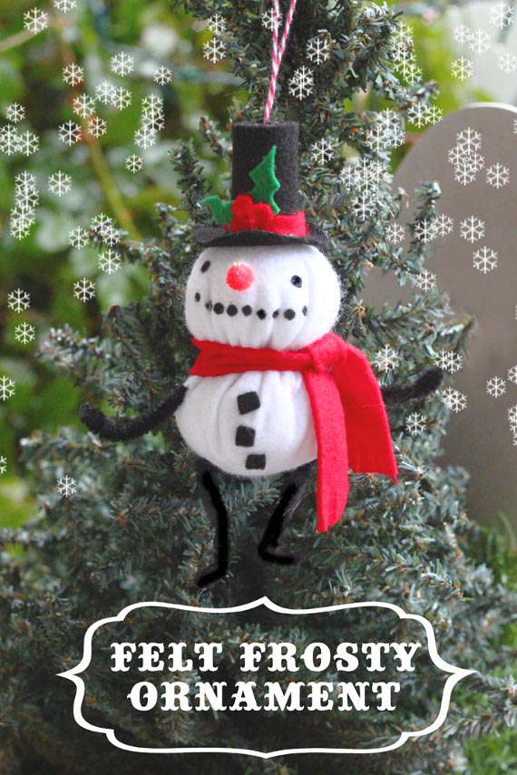 Felt Frosty Ornament