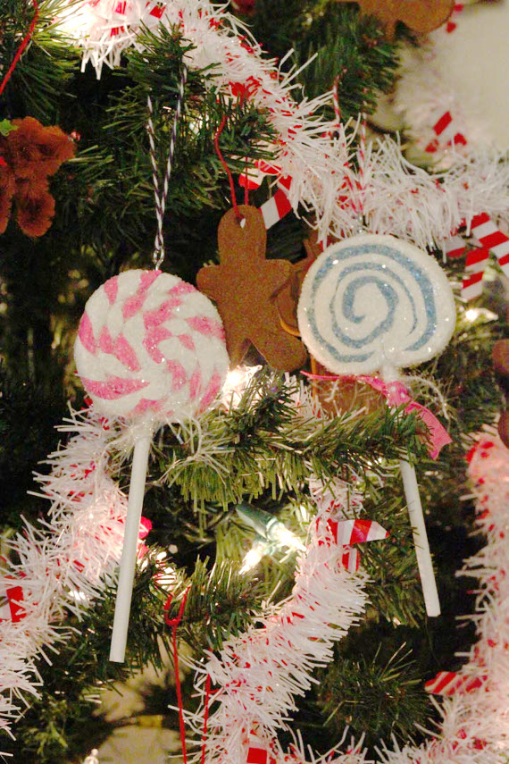 Sparkly Lollipop Ornaments
