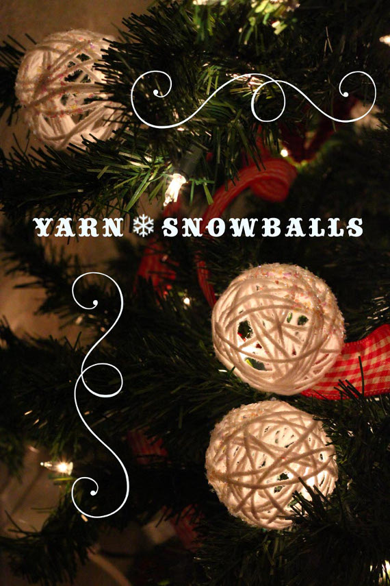DIY Yarn Snowballs