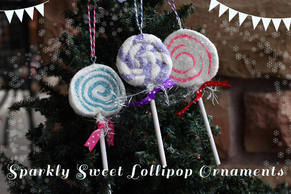 Sparkly Sweet Lollipop Ornaments