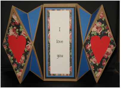 Double Diamond Fold Card of Love