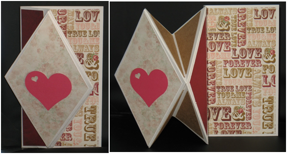 Love Diamond Fold Card