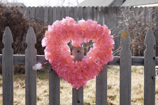 Coffee Filter Heart Wreath