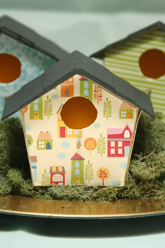 Bird House Tea Light Holders for Spring