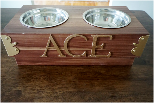 Personalized Dog Food Bowl Stand