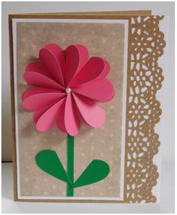 Turn Paper Hearts into a Flower