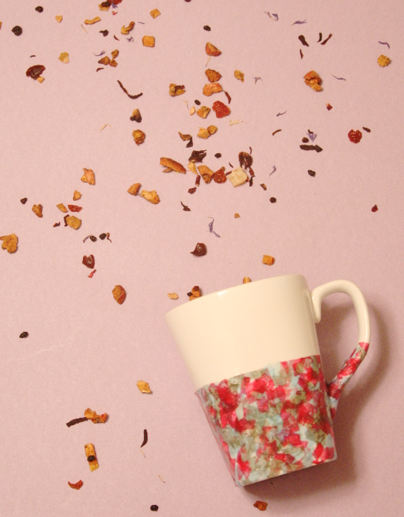 "Have a party every morning with a DIY Confetti ""Dipped"" Mug"