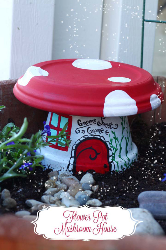 Create a little toadstool house for your fairy garden this spring!