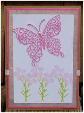 Flowers & Butterflies Card
