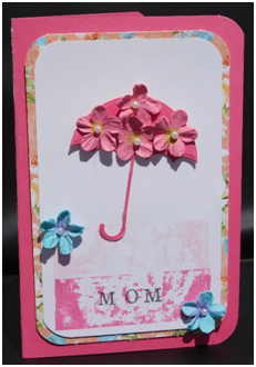 Flowers for Mom Card Using the Painters Tape Technique