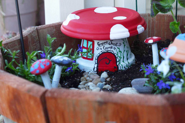 Flower Pot Fairy Garden House