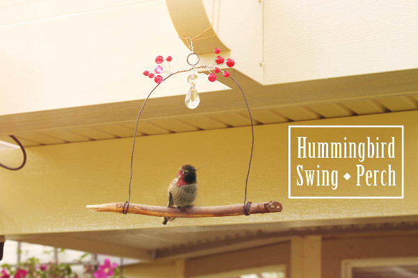 Make a perch to put next to your hummingbird feeder