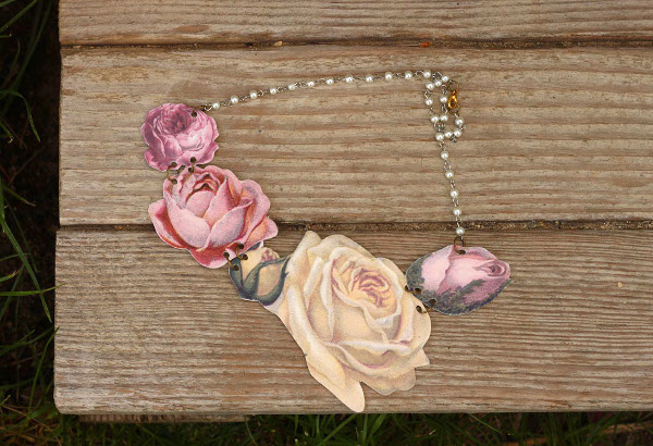 Shrink Plastic Bloom Necklace