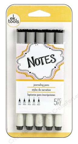 EK Pen Journaling Set Black Assorted 5pc