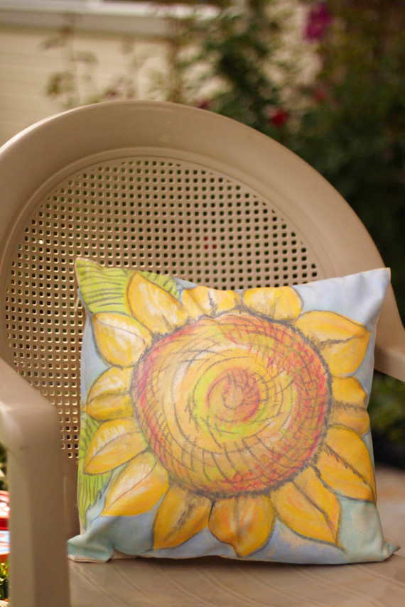 Gelatos Painted Pillow
