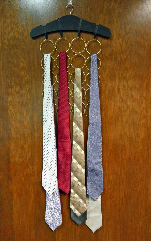 DIY Tie Organizer for Father's Day