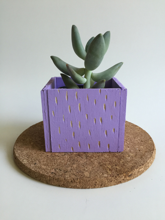 Carved Balsa Planter