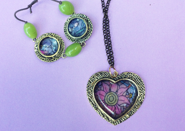 Coloring Page Jewelry